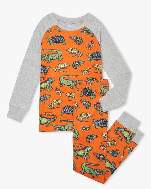 Aquatic Reptiles Organic Cotton Pajama Set