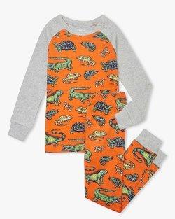 Aquatic Reptiles Organic Cotton Pajama Set