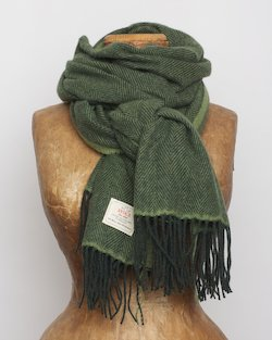 Cashmere Wool Sandymount Scarf In Olive
