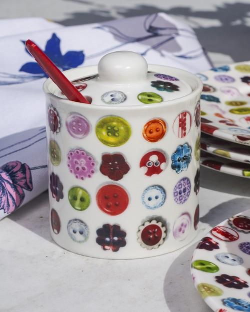 Button Sugar Pot