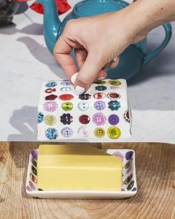 Button Butter Dish