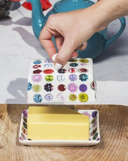 Button Butter Dish