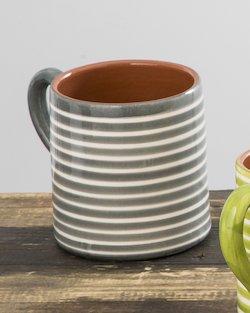 Striped Terracotta Mug