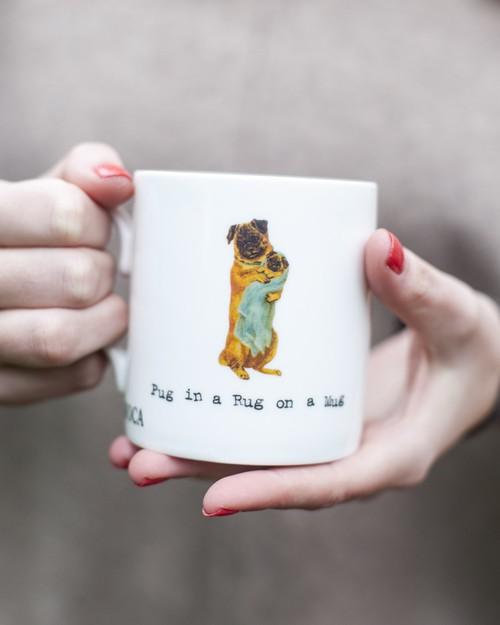 Pug in a Rug Mug