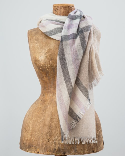 100% Cashmere Summer Plaid Scarf