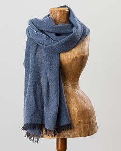 100% Cashmere Scarf in Navy