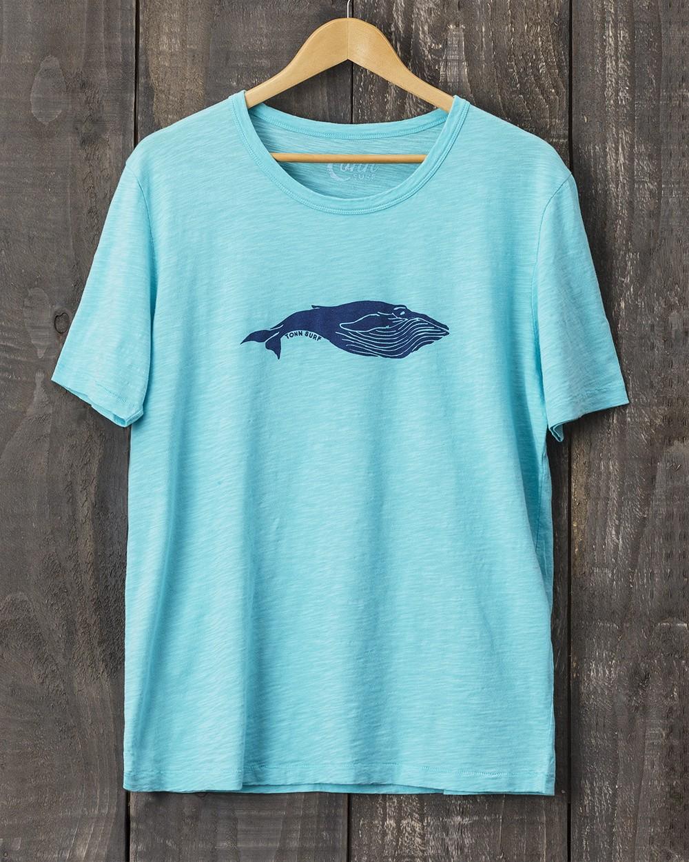 Tonn Organic Cotton Whale T-Shirt - Turquoise