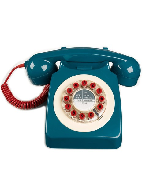 Retro Blue Telephone