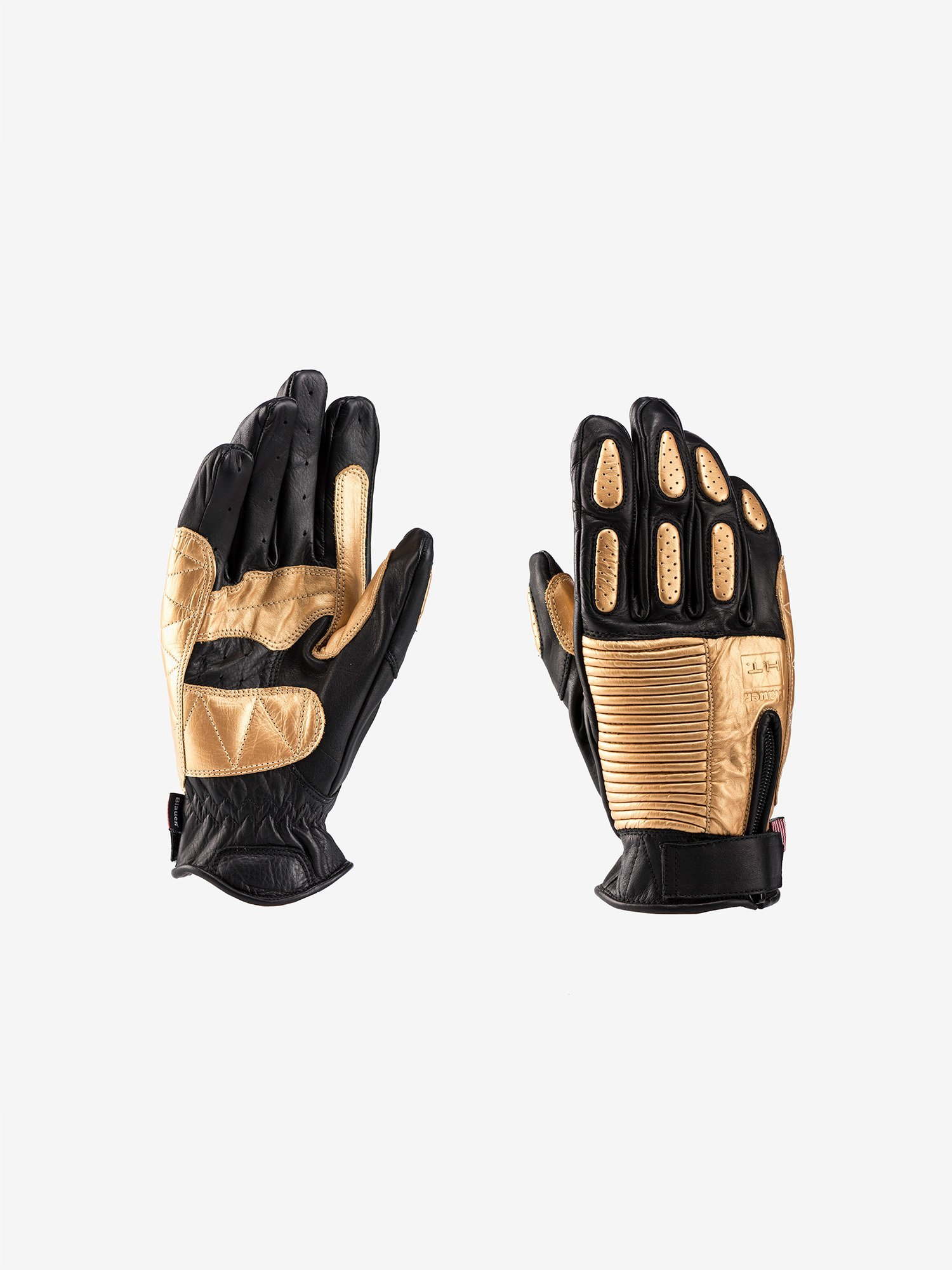 Blauer - BANNER MOTORCYCLE GLOVES - Black / Gold - Blauer