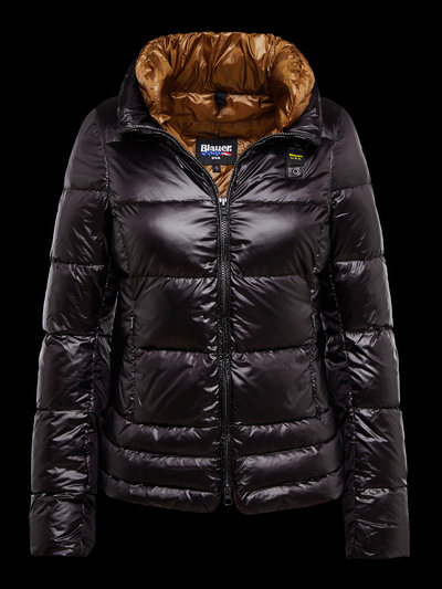 GLOSSY NYLON DOWN JACKET
