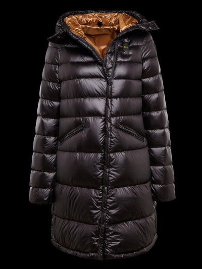 PARKA LONGUE EN NYLON BRILLANT