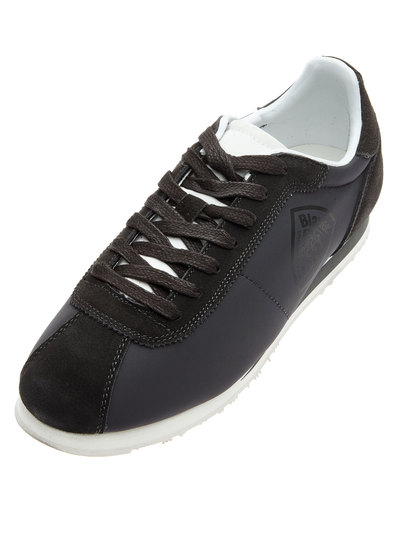 BOWLING STYLE SUEDE SNEAKERS