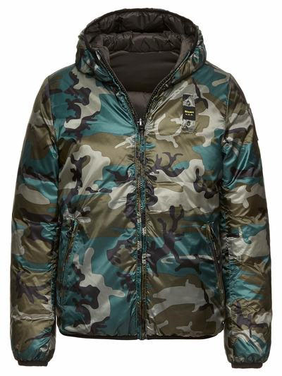 BOY REVERSIBLE GOOSE DOWN JACKET