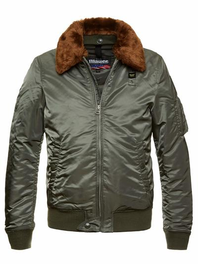 LUCAS BOMBER JACKET WITH REMOVABLE FUR COLLAR