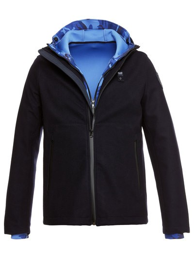 ROBERT NEOPRENE AND DOUBLE WOOL JACKET