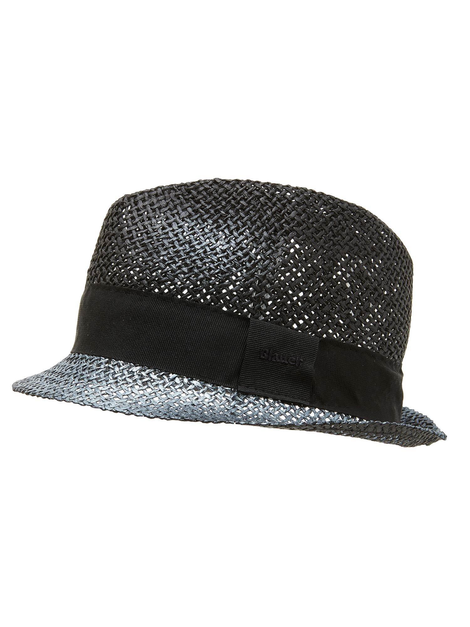 Blauer - TRILBY HAT IN PAPER FABRIC - Black - Blauer