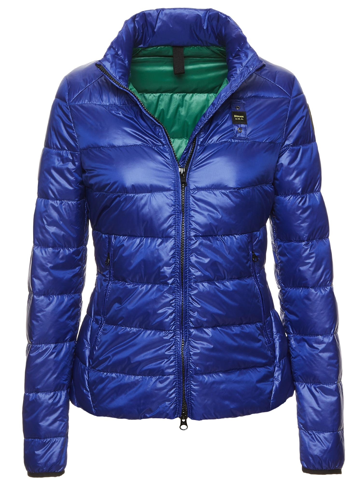 MILA DOWN JACKET 100 GRAMS - Blu Limoges ins Green - Blauer