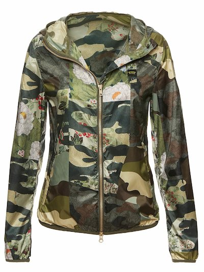 LEAH CAMOUFLAGE HOODED WINDBREAKER