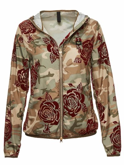 LAYLA WINDBREAKER WITH FLORAL MOTIF
