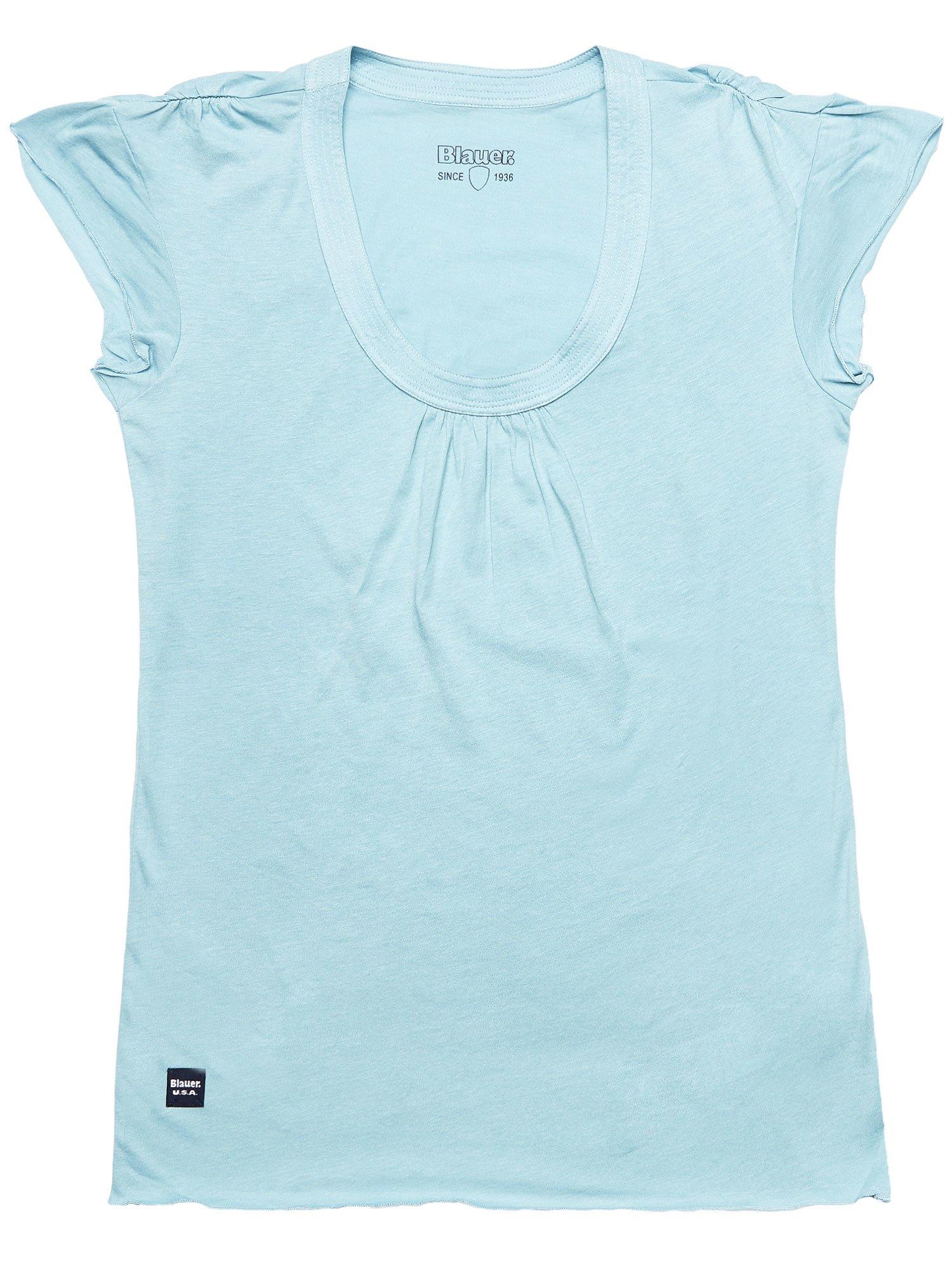 Blauer - CAP SLEEVE T-SHIRT - Blue Dolphin - Blauer