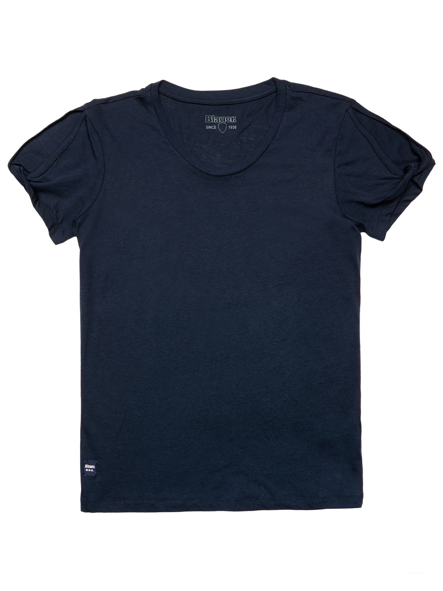 CUT OUT COTTON MODAL T-SHIRT - Blauer
