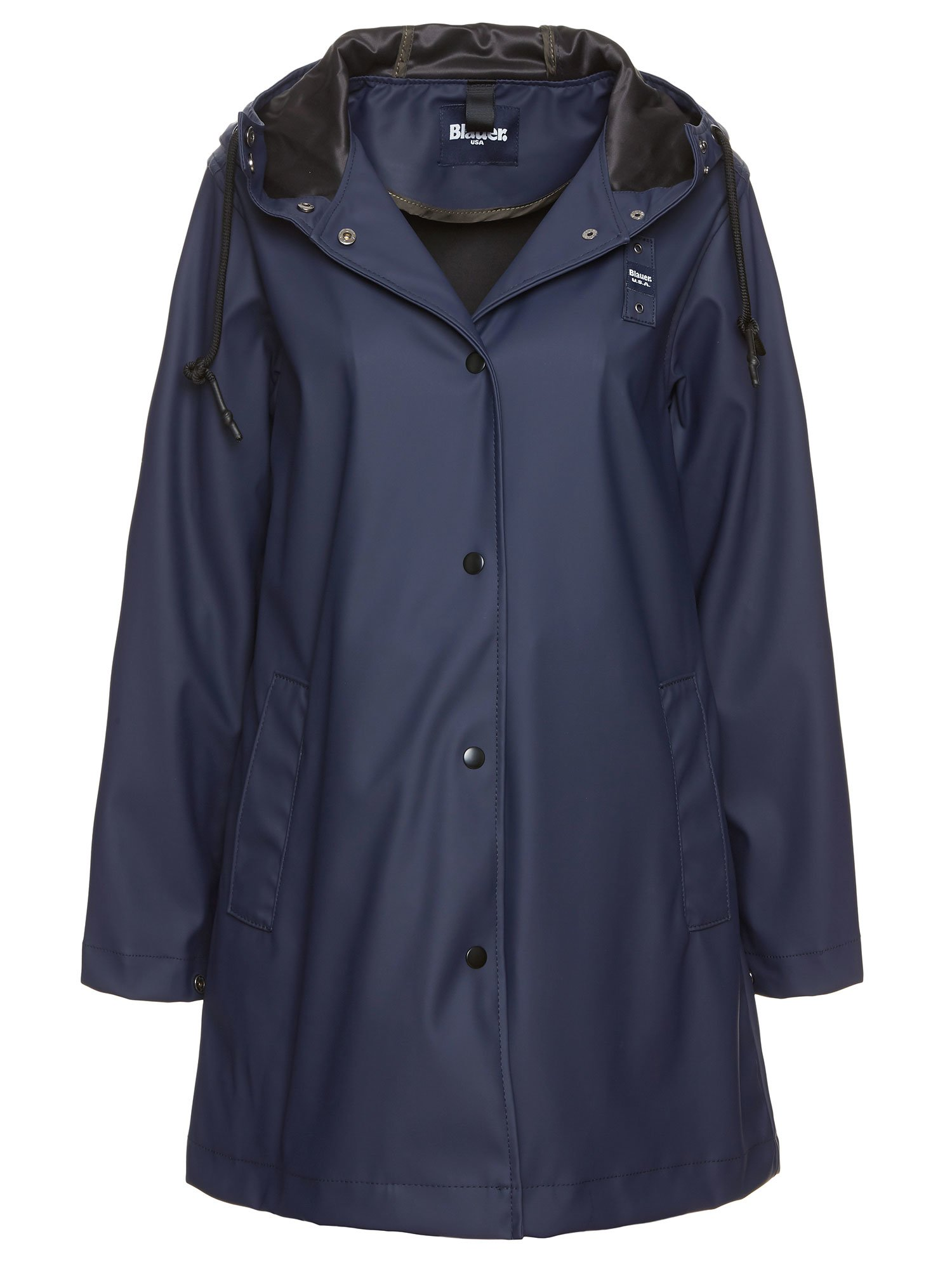 UNLINED RAINCOAT WITH SILVER METALLIC EFFECT - Blauer