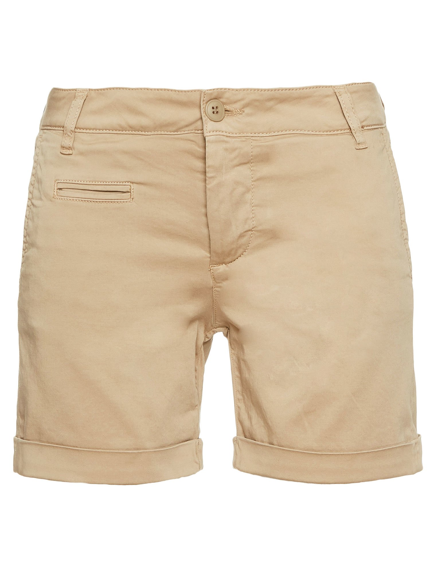 Blauer - COTTON SATIN BERMUDA SHORTS - Biscuit - Blauer