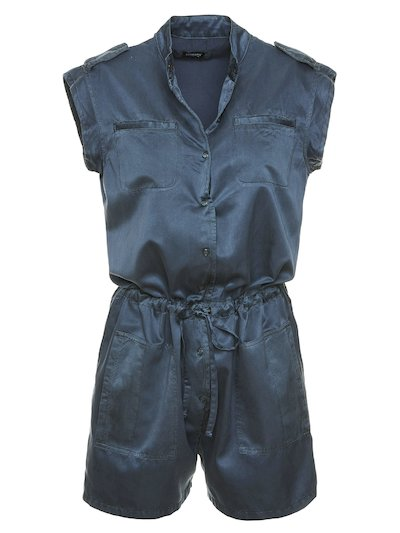 SHORT SILK AND COTTON JUMPSUIT