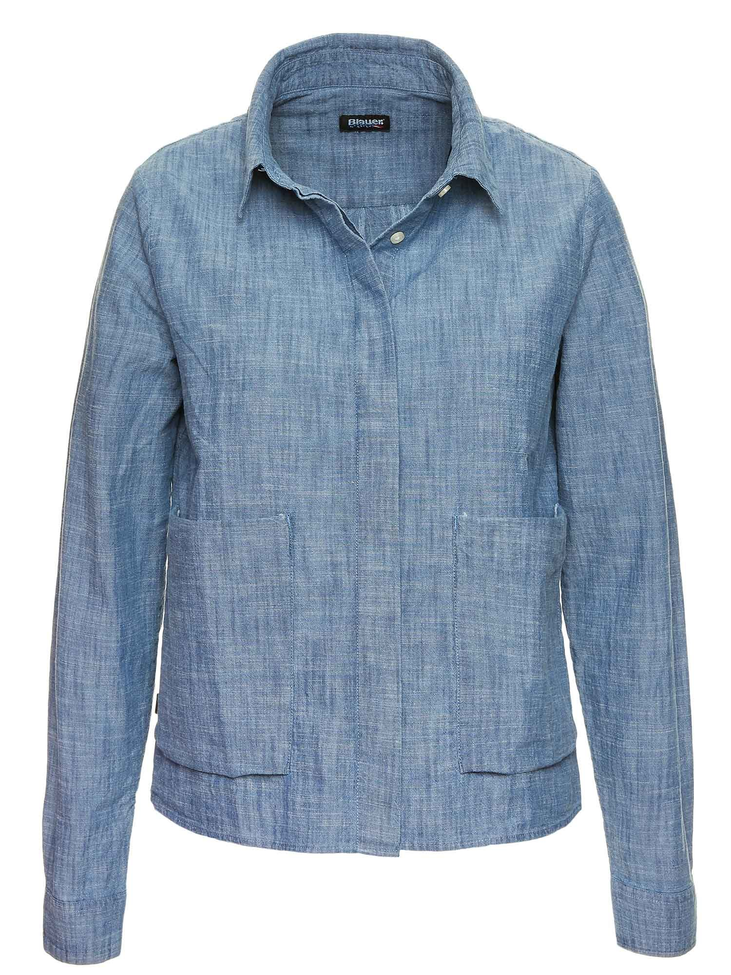 CAMICIA IN CHAMBRAY INDIGO - Blauer