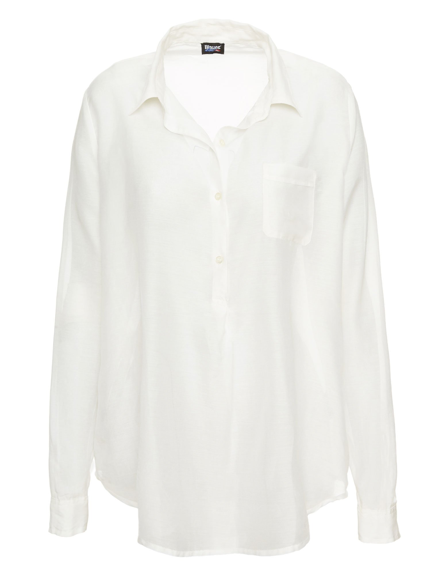 COTTON AND SILK VOILE SHIRT - Blauer