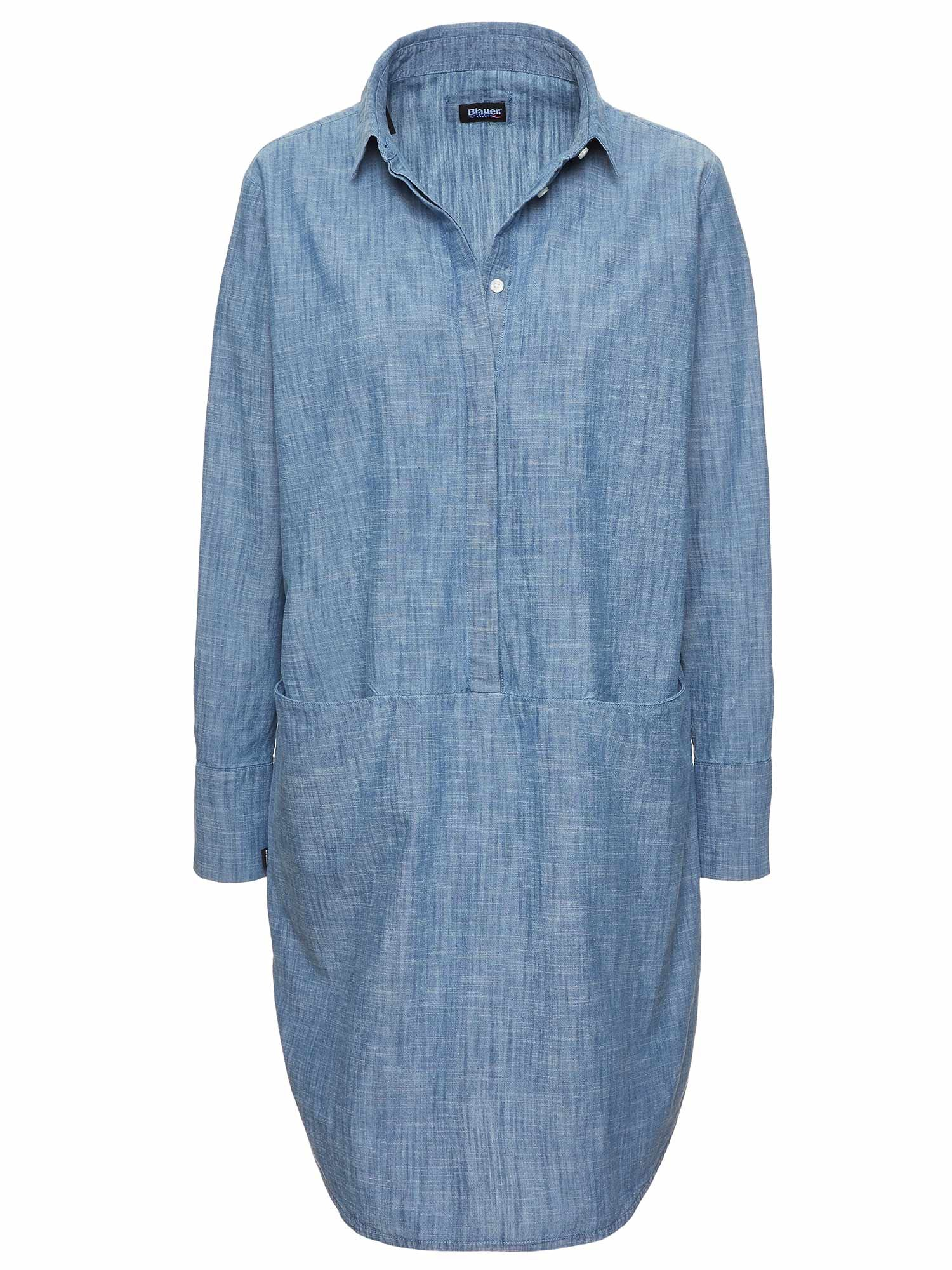 INDIGO COTTON DRESS - Blauer