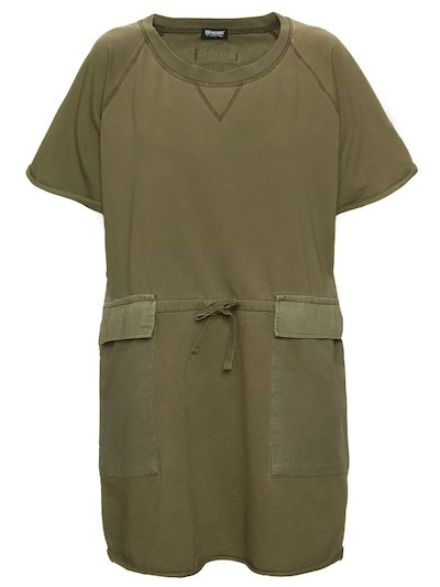 COTTON DRESS WITH GABARDINE POCKETS__