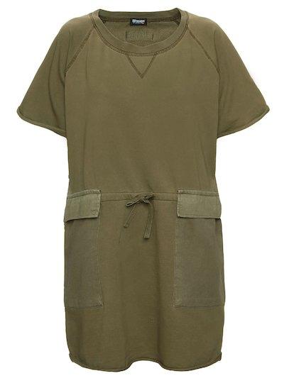 COTTON DRESS WITH GABARDINE POCKETS