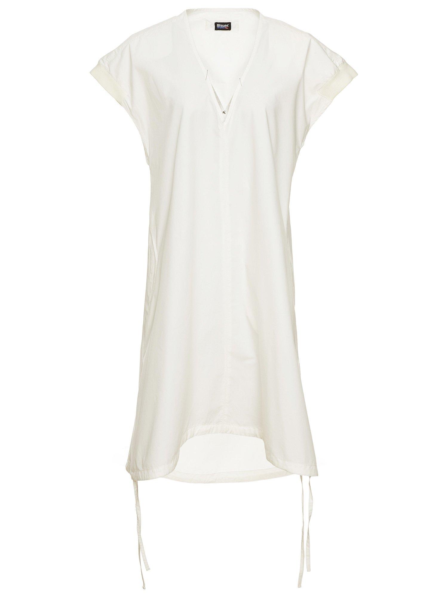 COTTON POPLIN SLEEVELESS DRESS - Blauer