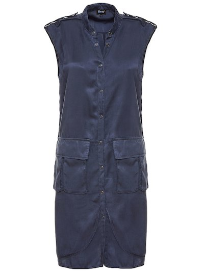 SLEEVELESS DRESS WITH LARGE POCKETS