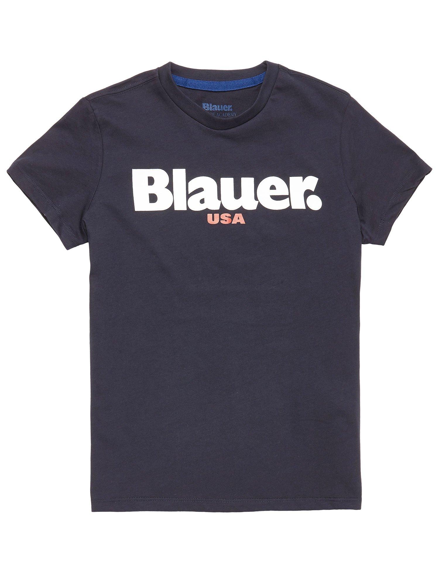 T-SHIRT BAMBINO BLAUER USA - Blu Notte Scura - Blauer