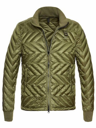 CALEB ZIG ZAG QUILTED DOWN JACKET