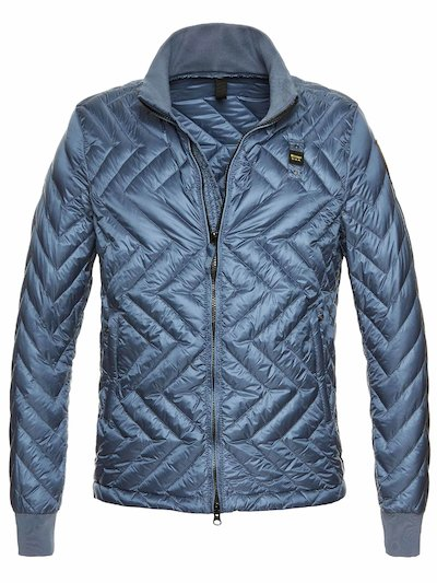 CALEB ZIG ZAG QUILTED DOWN JACKET__