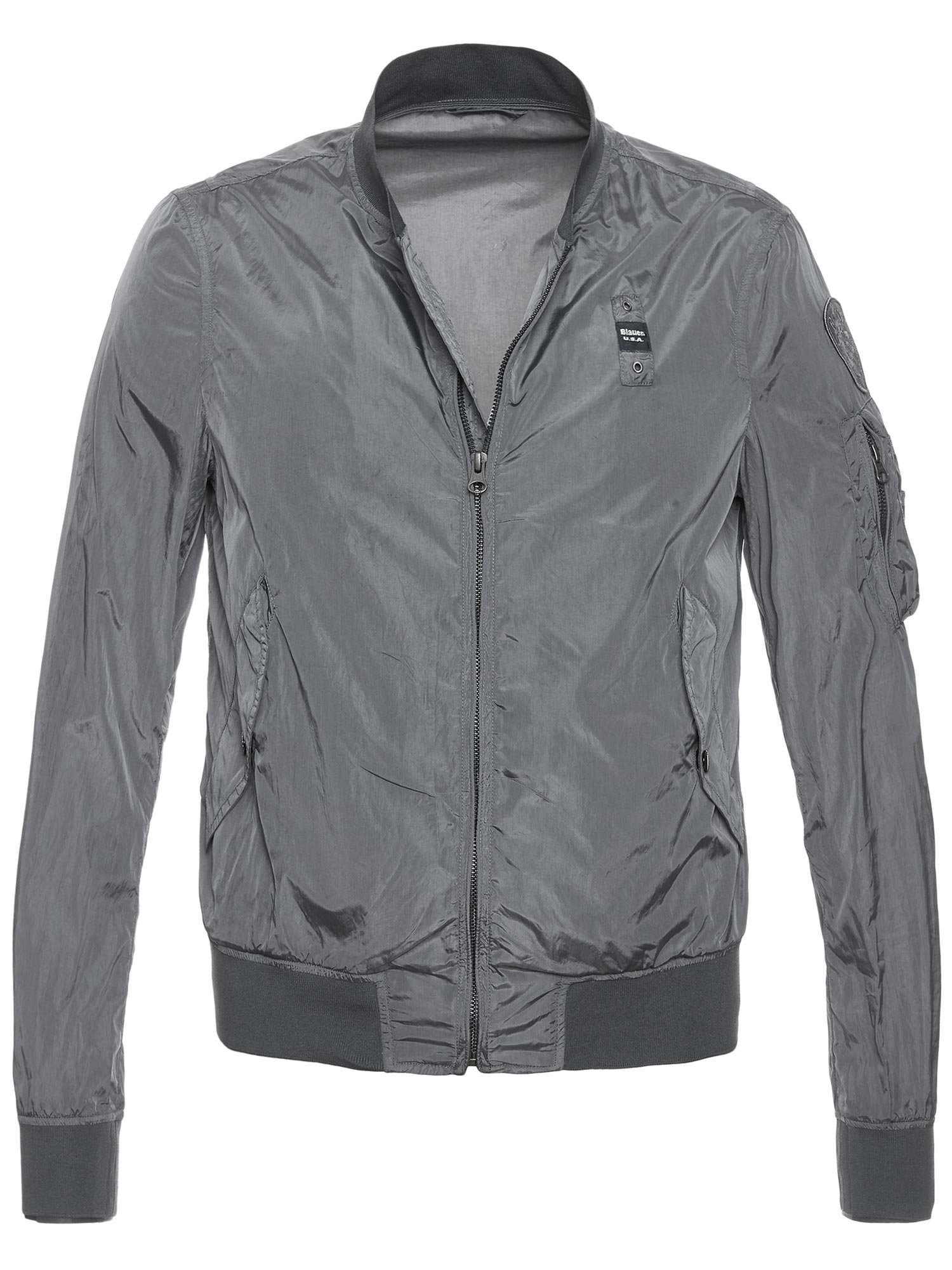 Blauer - GIUBBINO AVIATOR ANTIVENTO HUNTER - Grigio Intenso - Blauer