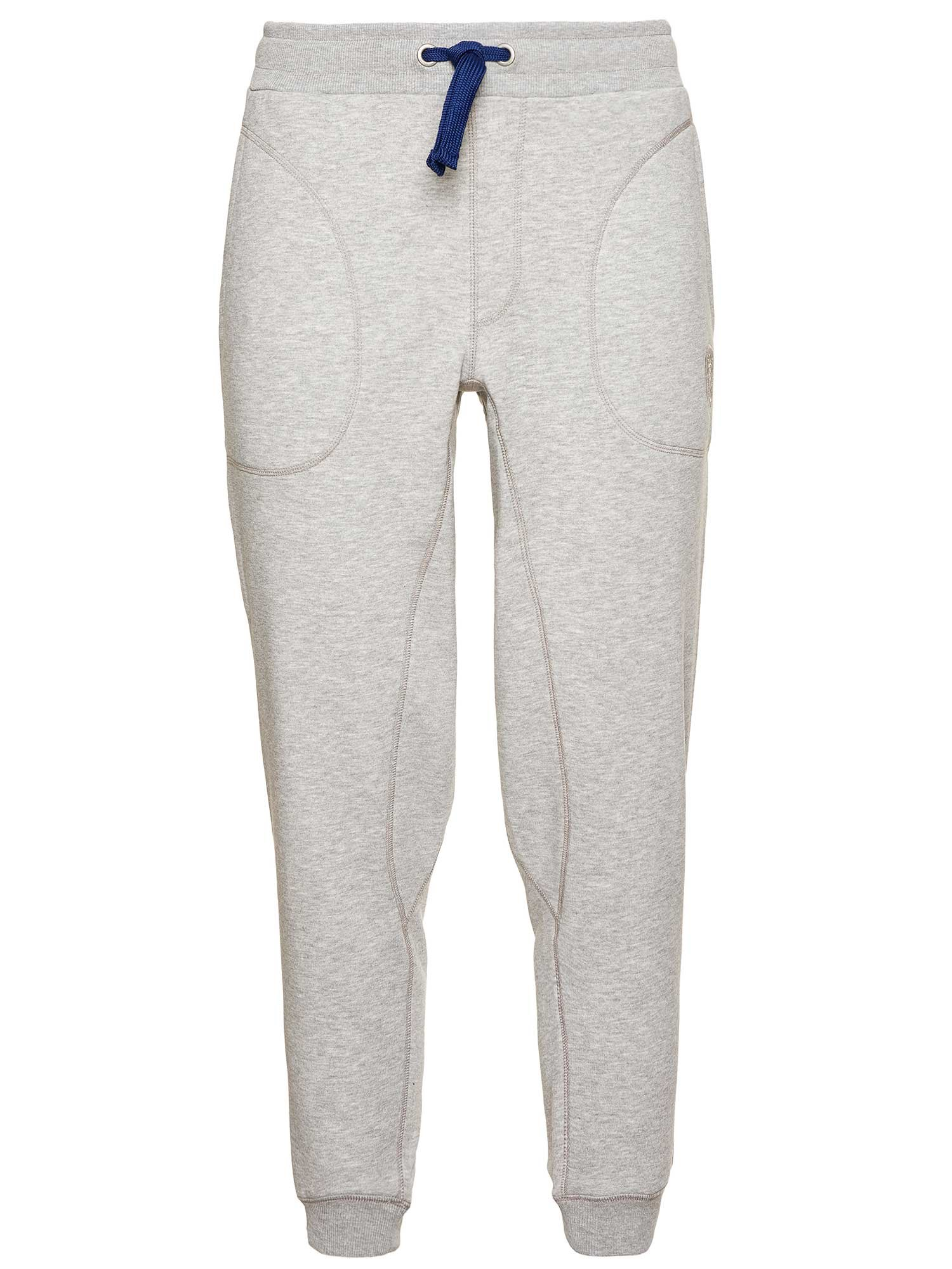 Blauer - PANTALONE LUNGO IN FELPA - Light Grey - Blauer