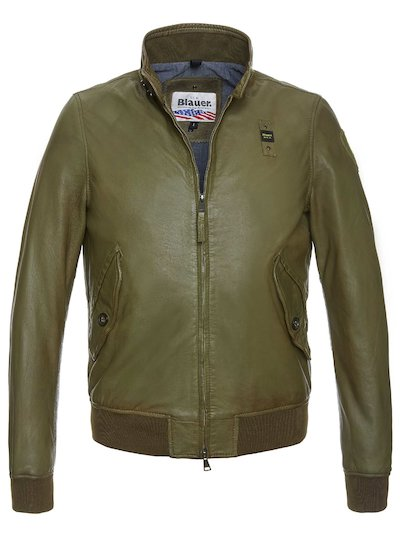ADAM RUGGED LEATHER BOMBER