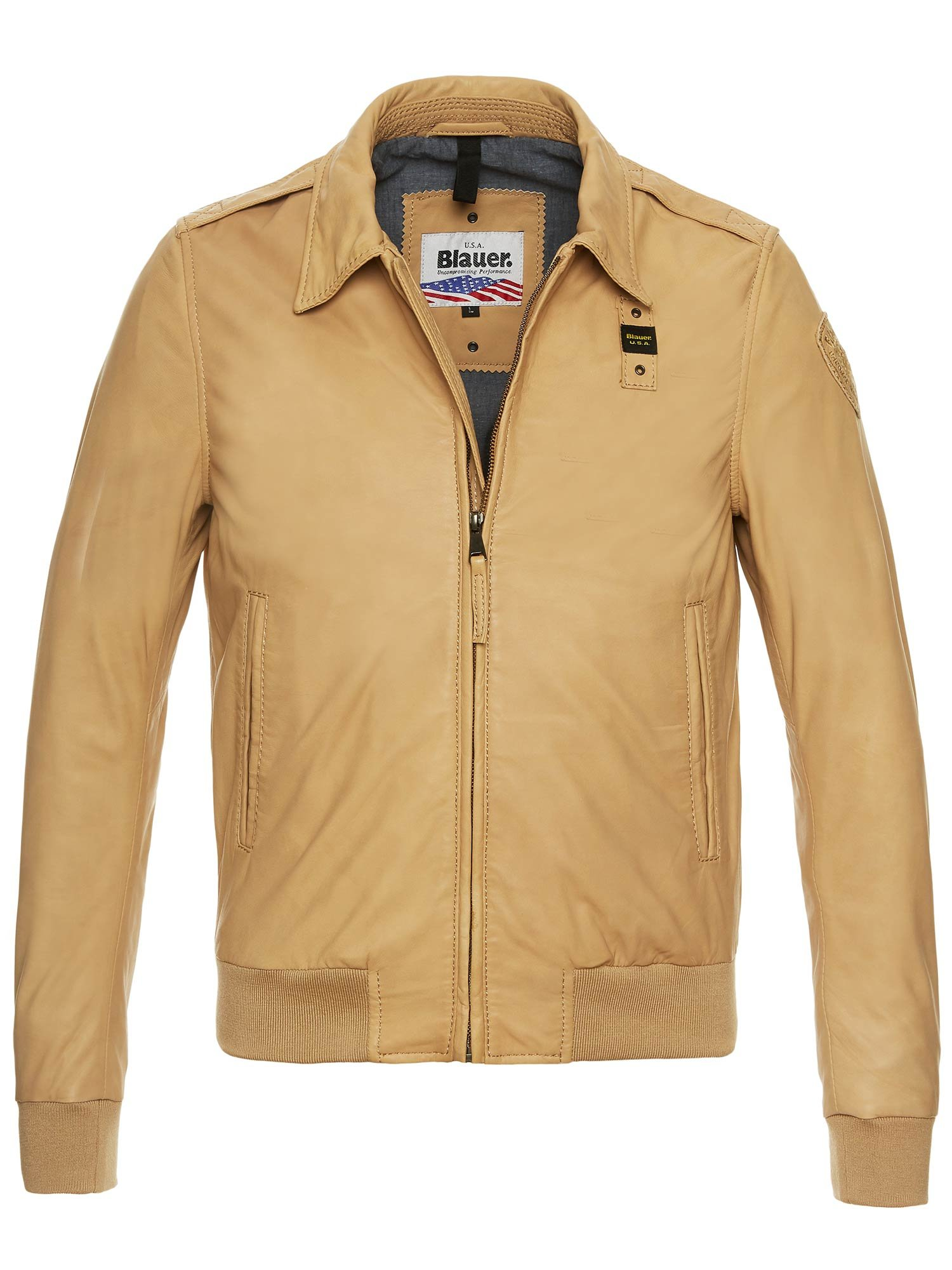 ANDREW BOMBER WITH COLLAR - Biscuit - Blauer
