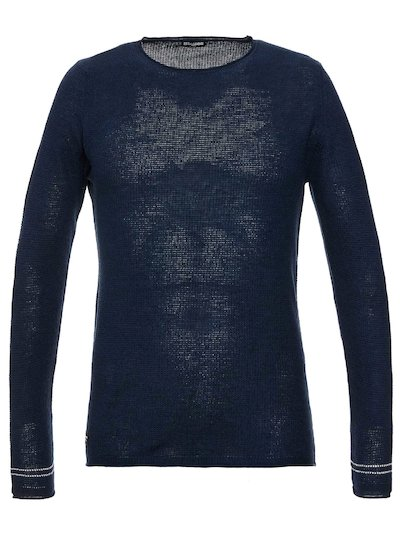 LINEN AND COTTON CREWNECK SWEATER