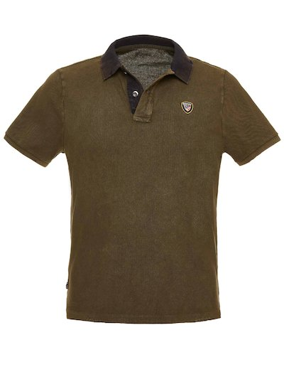 PIQUE POLO WITH BLAUER SHIELD