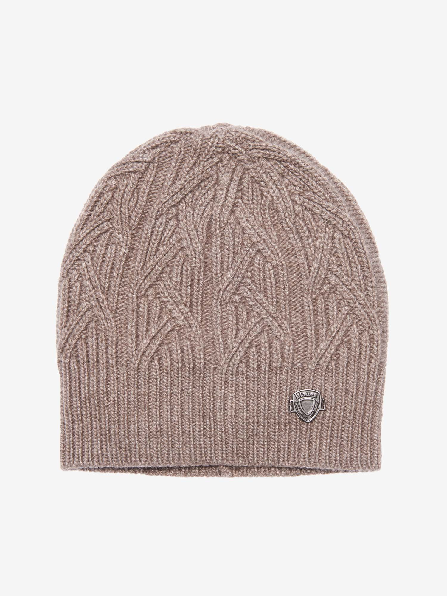CABLE KNIT CAP - Blauer