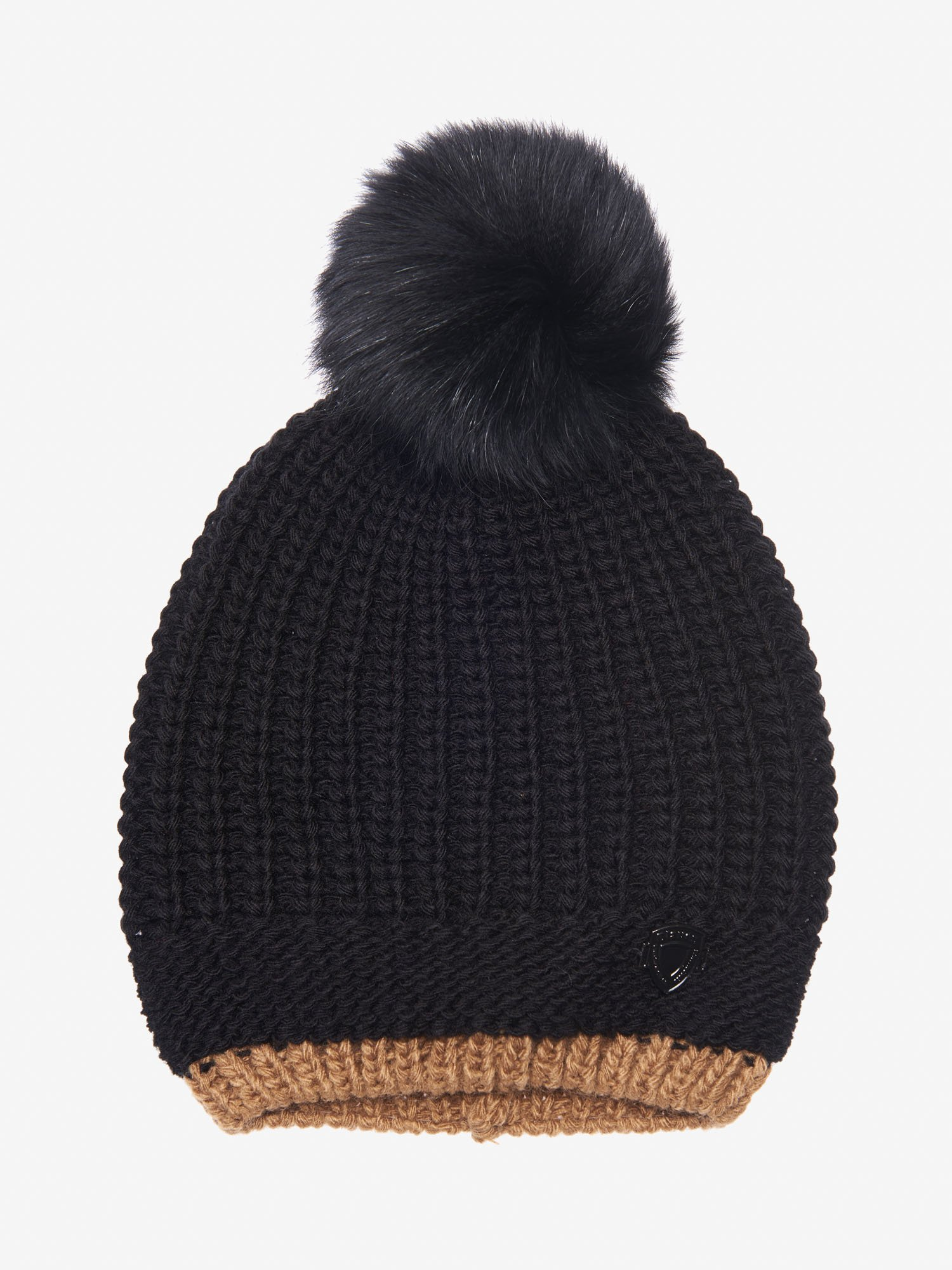 Blauer - HAT WITH POMPOM - Black - Blauer