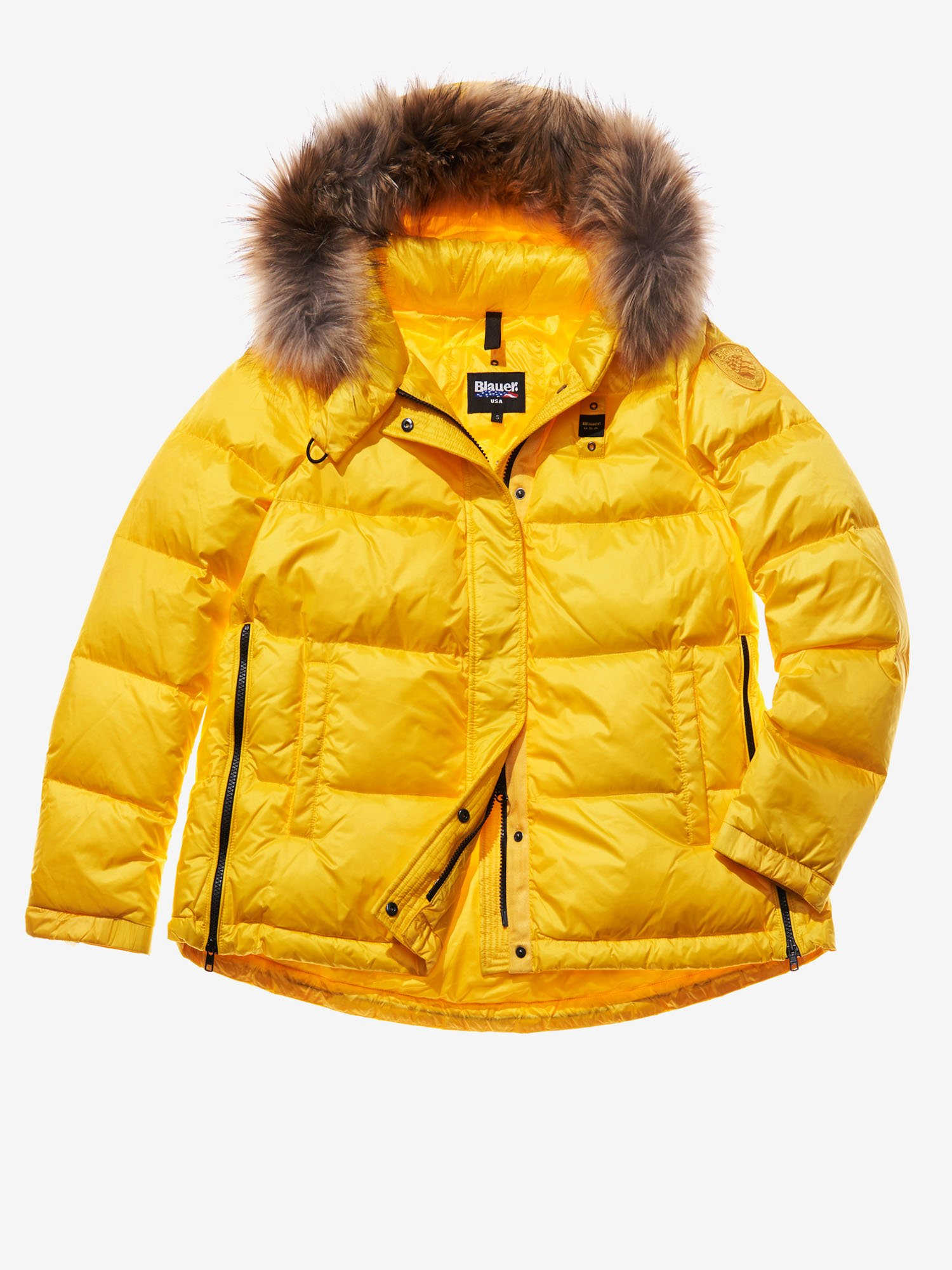 Blauer - ALICE HOODED DOWN JACKET - Acid Yellow - Blauer