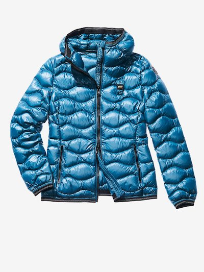GRETA WAVE-QUILTED SHINY DOWN JACKET
