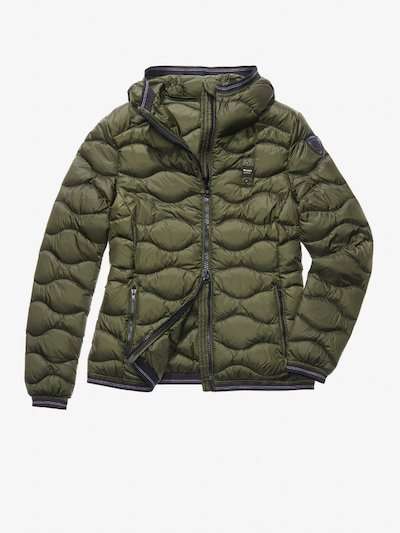 GAIA WAVE-QUILTED MILITARY-STYLE DOWN JACKET