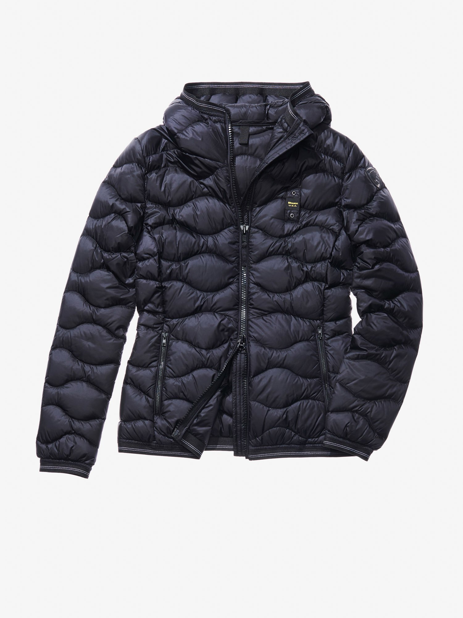 GAIA WAVE-QUILTED MILITARY-STYLE DOWN JACKET - Blauer